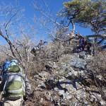 清八山へ登り