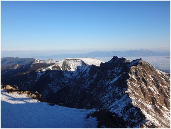 赤岳から横岳・硫黄岳の稜線