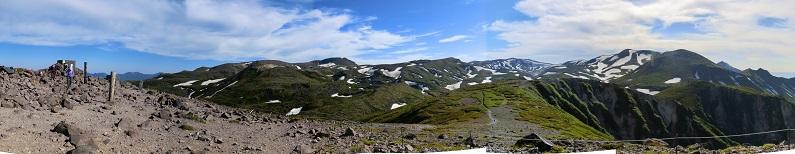 黒岳頂上からのパノラマ