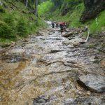 43_ナメ滝を登る