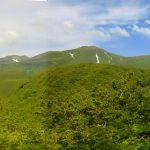 P005_羅臼岳下山道から見た知床連山