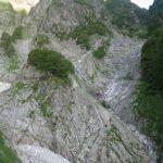 クライムダウン地点テールリッジ~衝立岩を臨む
