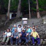 檜枝岐歌舞伎の石積み客席