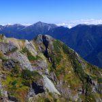 棟稜ラクダのコル、常念山脈
