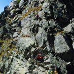 二峰の登り
