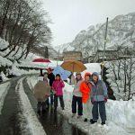 燕温泉まで雪道散歩