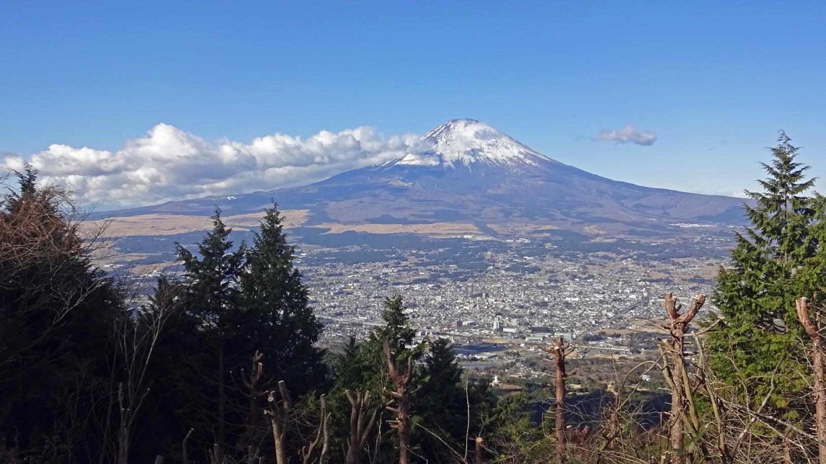 乙女峠展望台からの富士山
