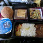 Doha空港離陸後の機内食