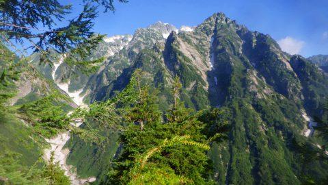 ハシゴ段乗越方面からⅠ峰、マイナーピーク、源次郎、剣沢、本峰