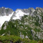 Ⅱ峰から上方 劔本峰やチンネ・小窓の王など