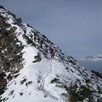 金峰山千代の吹き上げ付近を歩く