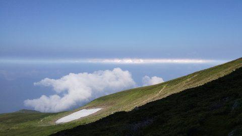 御前峰中腹での彩雲