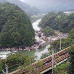 中央本線と木曽川