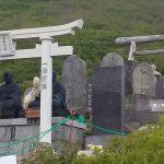 霊神碑が立ち並ぶ