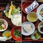 石室山荘の夕食と朝食