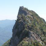 石鎚山弥山頂上から見た天狗岳