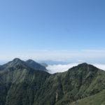 弥山から見た堂ヶ森・二ノ森