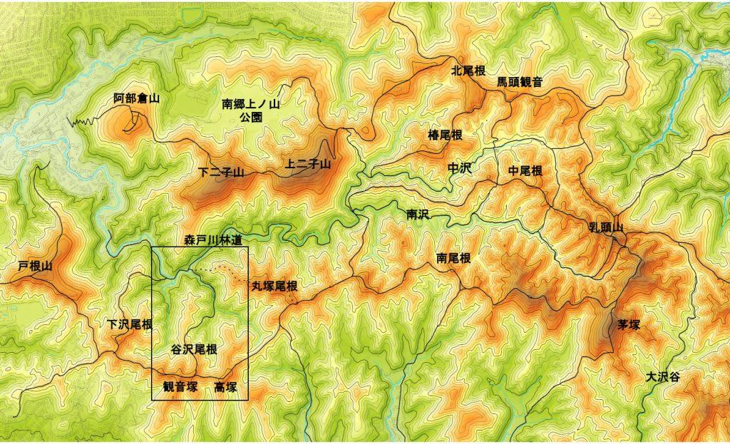 本図の背景地図は国土基盤情報(国土地理院)を使用して作成した。